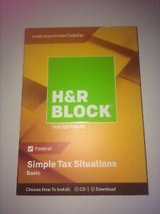 2018 H&R Block Basic | Federal Returns ONlY | Windows & Mac