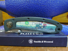 Smith & Wesson John Deere pocket knife 150th Anniversary Tractor gold Shield Pi