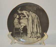 "NORMAN ROCKWELL Tom Sawyer ""Taking The Medicine"" 1974 Ridgewood Fine China Plate"