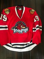 Chicago Blackhawks Rockford Ice Hogs 2010/11 Jeremy Morin Autographed Jersey AHL