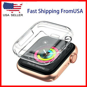 Soft Screen Protector Cover Case Apple Watch Series SE 6 5 4 3 2 1  38/40/42/44