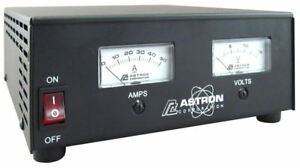 Astron SS-50M Compact Table Top 50 Amp DC Power Supply w/ Dual Meters