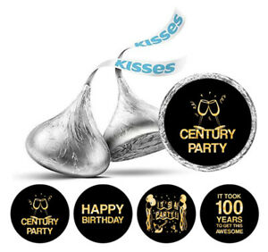 Darling Souvenir Its Took 100 Years Birthday  Stickers Kisses Candy DIY-DS-KS156