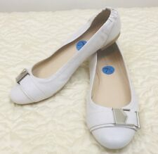 Calvin Klein Cirus White Ballet Flats Slip-on Women's Sz. 7.5