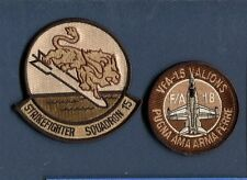 VFA-15 VALIONS US NAVY F-18 HORNET Fighter Desert Squadron Patch Set