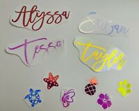 Custom Personalized Name Vinyl Decal Sticker