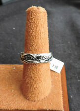 David Yurman Waves Sterling Silver Black Diamond Ring R15191mssa 7mm Size 10