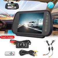 "7"" Monitor Wireless Car Rear View Kit + IR Night View Cámara de reversa CDD ES"