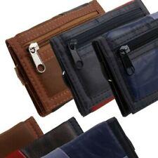 Mens Boys Leather Tri Fold Wallet Belt Clip Credit Debit Card