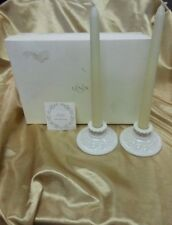 """""""Great Giftables"""" Candlestick Pair W/Candles In Box By Lenox (Gold Trim)"""
