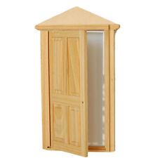 1:12 Dollhouse Miniature DIY Material Wooden Luxury Exterior Door Panel & Frame