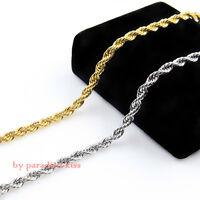 collana catena girocollo da uomo acciaio argento dorato c.179