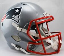 New England Patriots Deluxe Replica Speed Helmet Full Scale NFL Football Display