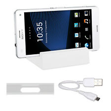SLL magnetico Docking Station per Sony Xperia z3 COMPACT BIANCO DOCK UNIVERSALE