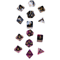14Pcs Polyhedral Dice Board Game Toy Gift for Dungeons & Dragons Party Games