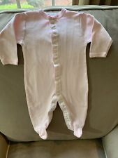 NEW Royal Baby Girl Size 3-6 Months Pink 100% Pima Cotton  One Piece