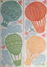 HOT AIR BALLOONS wall stickers 22 decals room decor cloud bird butterfly nursery