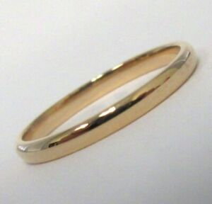 TIFFANY & Co. Classic 18K Rose Gold 2mm Lucida Wedding Band Ring 5