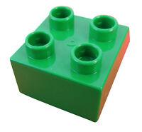 Lego Duplo 50 Stück grüne Steine 2x2 blau 4 Noppen Stein Baustein in grün Neu