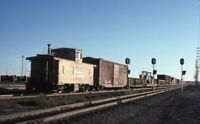 UP UNION PACIFIC Railroad Freight Train Caboose Original Photo Slide