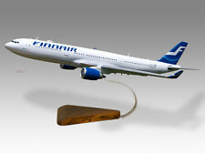 Airbus A330-300 Finnair Solid Mahogany Wood Handmade Desktop Airplane Model