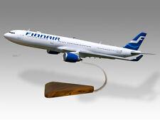 Airbus A330-300 Finnair Solid Mahogany Wood Handmade Desktop Airplane Model