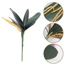 1 Bouquet Artificial Green Butterfly Orchid Silk Leaves Leaf Plant Home Decor