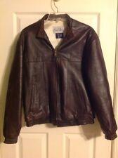 Vintage Count Sini Dark Brown Lambskin Leather Bomber Jacket Mens Size 38 Coat