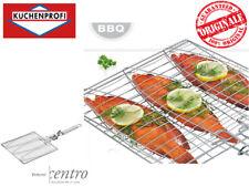 Küchenprofi 1066062800 – Pinza da Barbecue per 3 Pesci con manico