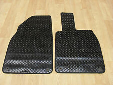 Porsche Cayman 2013-on Fully Tailored RUBBER Car Mats in Black.