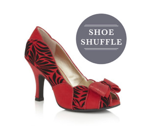 Ruby Shoo Harper Red Peep Toe High Heel Wedding Event Occasional Causal