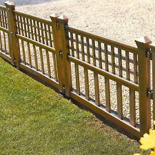 Confezione di 8 pannelli in plastica BRONZO recinzione giardino prato bordatura paesaggio vegetale bordo