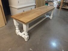 RECLAIMED PAINTED 5' LOW BENCH BESPOKE SIZES & COLOURS F&B WIMBORNE WHITE