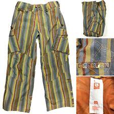 Burton Cargo Snowboard Pants Mesh Lined Multicolor Stripe Men's Size Medium M
