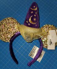 Disney Magic Happens Purple & Gold Minnie Ears Headband