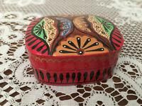Papier mache Kashmir trinket box - red and black Australian design