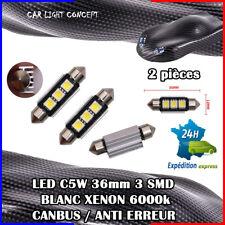 2 ampoule navette Plafonnier Feu 36mm LED C5W BLANC XENON 6000k voiture auto 36