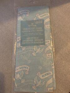 Hallmark Rejoice Alleluia Tissue Paper, Sealed Pack Dove 5 Sheet 18 Sq Ft