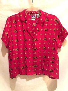 San Francisco 49ers ladies 100% SILK Pajama top-Medium-NWT-Rare FIND !