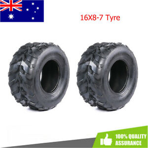 Pair of 16/8-7 inch TYRE Rear Front Wheel 150cc Quad Dirt Bike ATV Buggy Go Kart