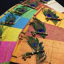4* Multicolour Peacock Feather Money Shagun Salami Cash Envelope EID Gift Wallet