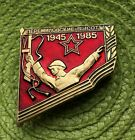 Soviet Monument - Soldier Hero with a gun WW2 Russian Vintage Pin Badge USSR