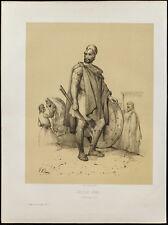 Lithographie de 1859: Soldat grec. Costume. (Victor Adam)