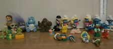 Bundle of character figures cake toppers Smurfs Dragons Pikachu care bear