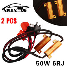 2X H7 Load Resistor 50W 6Ohm DRL Turn Signal LED Light Canbus Error Free Adapter