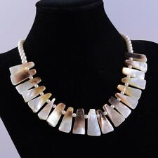 """pearl sticks graduated beads necklace 18"""" k17889 27-29mm Mother of pearl Mop"""