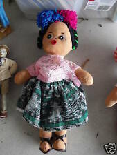 """Vintage Jointed Cloth Ethnic Girl Doll 12"""" Look"""
