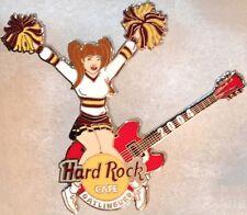 Hard Rock Cafe GATLINBURG 2004 CHEERLEADER Sexy Girl POM-POMS Guitar HRC #20944