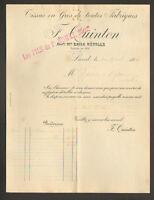 "LAVAL (53) TISSUS DRAPERIES ""F. QUINTON / Fils de P. ROMET Succ"" en 1913"