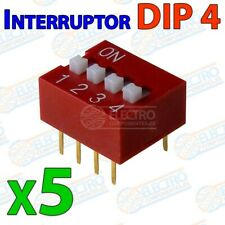 Interruptor DIP switch 4 canal DIP4 on off para PCB 4p multiswitch - Lote 5 unid